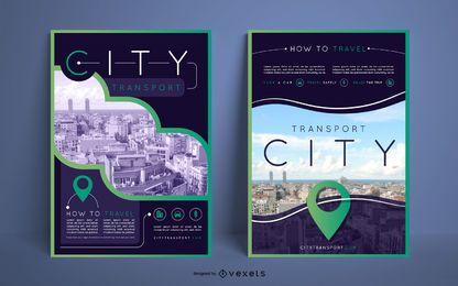 Diseño de póster de transporte