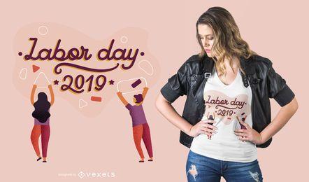 Diseño de camiseta del día del trabajo