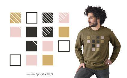Abstraktes Quadratt-shirt Design