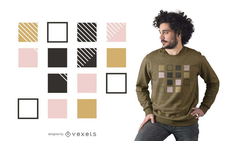Abstract squares t-shirt design