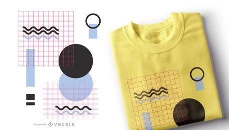 Diseño de camiseta de formas geométricas.