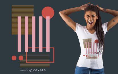 Diseño de camiseta de formas geométricas de colores.