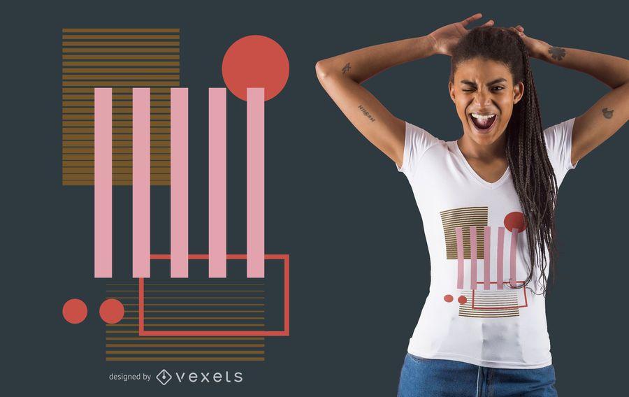 Colored geometric shapes t-shirt design