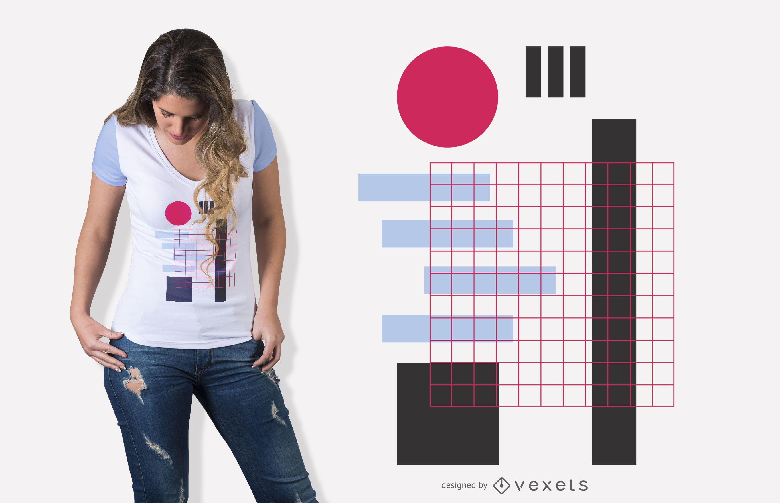 Geometric mesh abstract t-shirt design