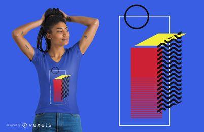 Auszug farbiger Shirtauslegung