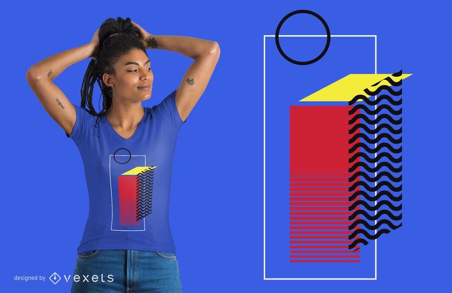 Diseño de camiseta de color abstracto