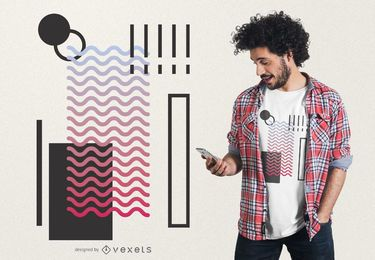 Abstract waves geometric t-shirt design