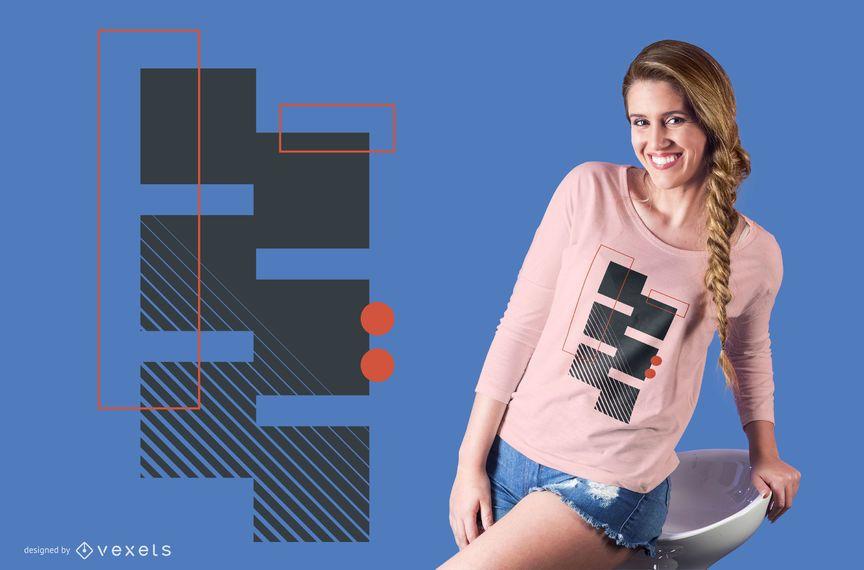 Design de camiseta geométrica simples