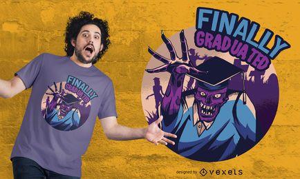 Finalmente graduado design de t-shirt