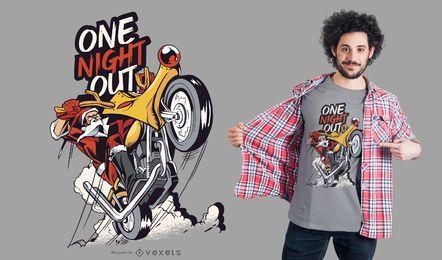 Diseño de camiseta de moto santa