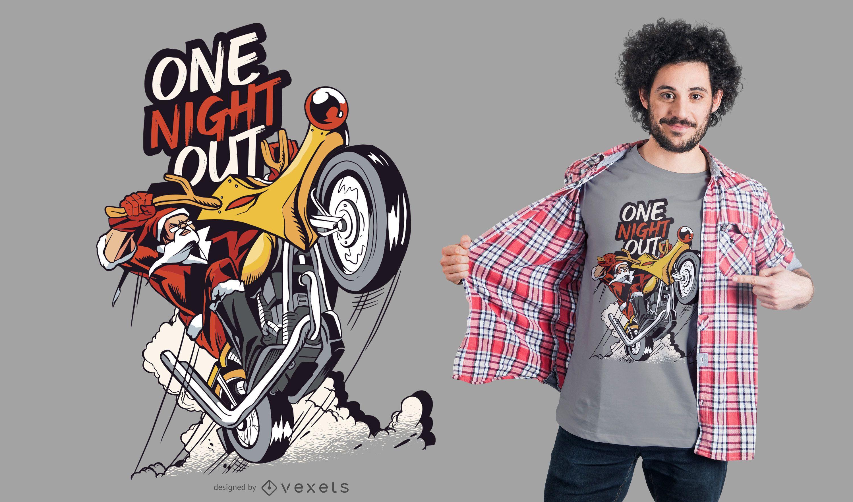 Santa motorbike t-shirt design