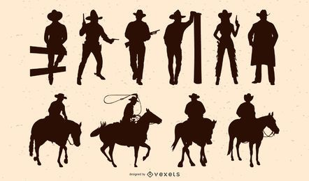 Cowboy People Silhouette Pack