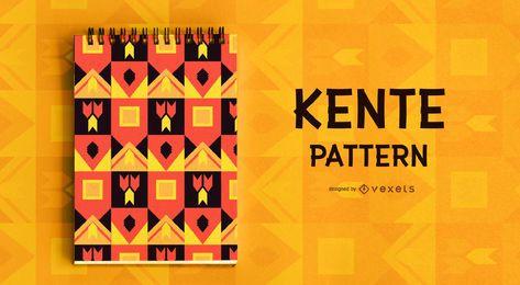 Diseño de patrón de estilo Kente