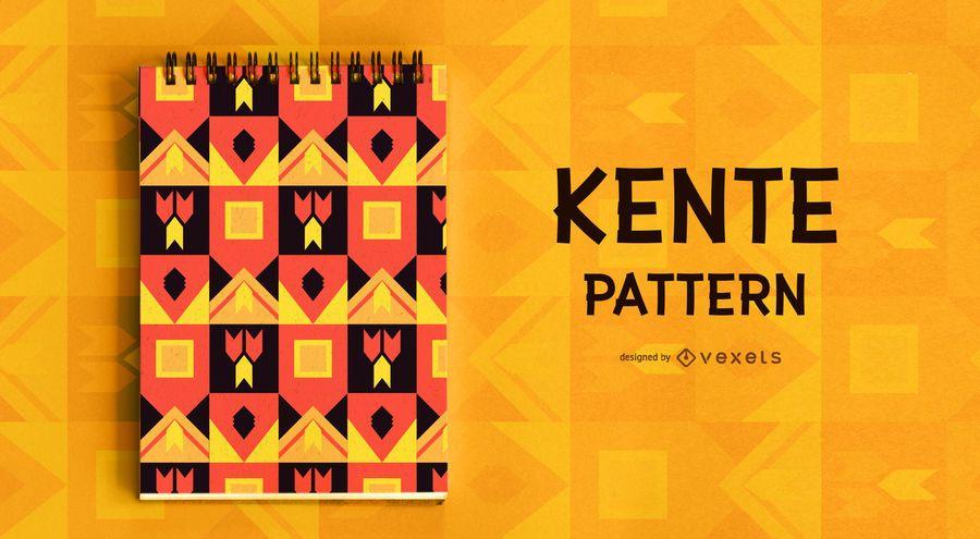 Design de padrão de estilo Kente