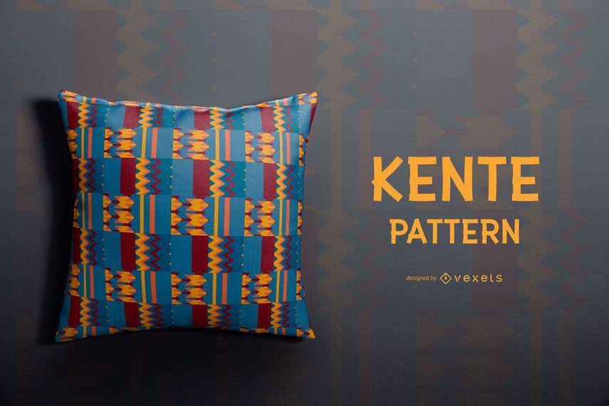 Bunter Kente-Muster-Entwurf