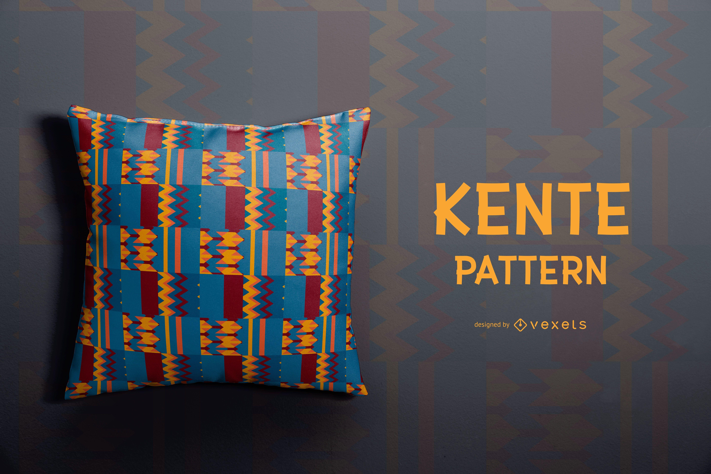 Diseño colorido del patrón de Kente