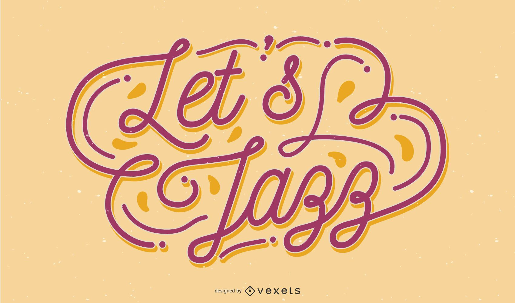 Vamos Design de Letras de Jazz