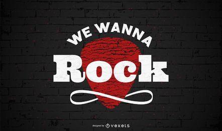 Queremos diseño de letras de rock