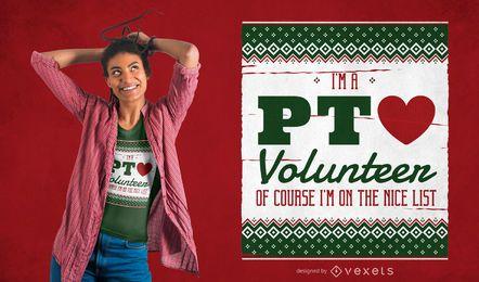 Diseño de camiseta de voluntario de fisioterapia