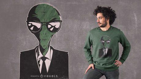 Alien Anzug T-Shirt Design
