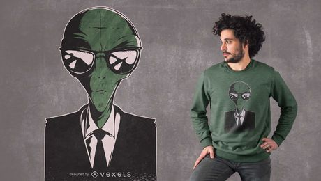 Diseño de camiseta Alien Suit