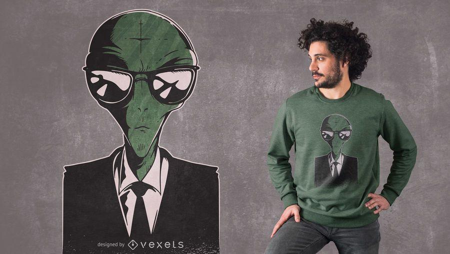 Diseño de camiseta de traje alienígena