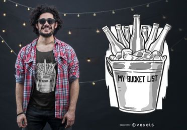 Diseño de camiseta de Beer Bucket List