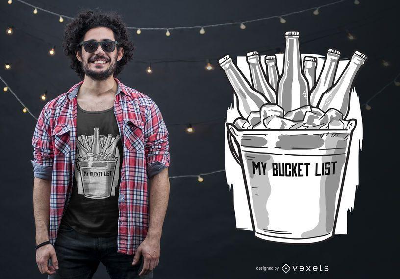 Beer Bucket List T-shirt Design