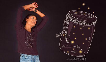 Projeto do t-shirt do frasco do vaga-lume