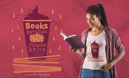 Diseño de camiseta Latte de calabaza y especias