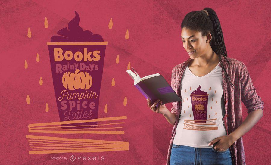 Pumpkin Spice Latte T-shirt Design
