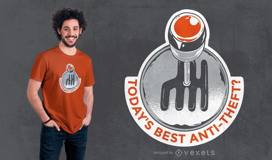 Design de t-shirt de letras de caixa de velocidades