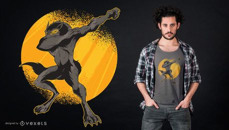 Dabbing Werewolf T-shirt Design