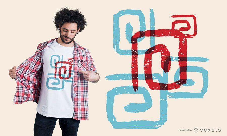 Diseño de camiseta de espirales abstractas