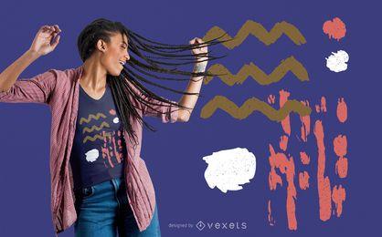 Formas abstratas design de t-shirt
