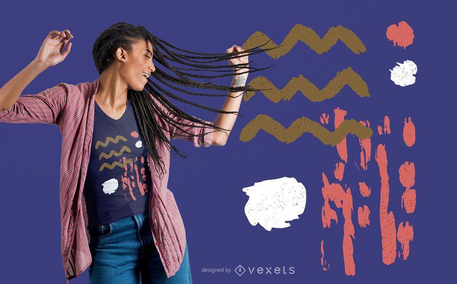 Diseño de camiseta de formas abstractas
