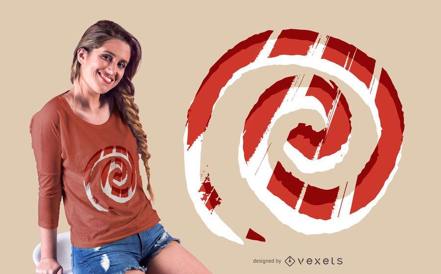 Diseño de camiseta espiral abstracto