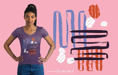 Design abstrato camiseta multicolor