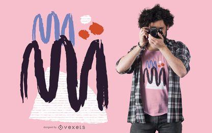 Diseño abstracto de camiseta en zig zag