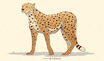 Diseño de ilustración de guepardo
