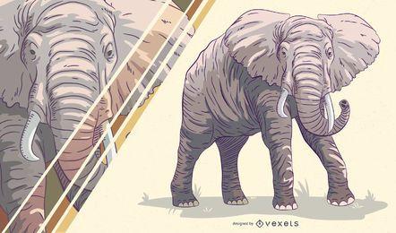 Elefant künstlerische Darstellung
