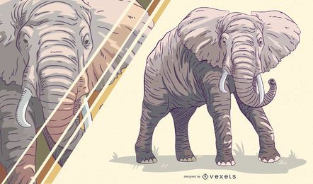 Elephant artistic illustration