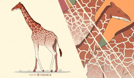 Giraffe artistic illustration