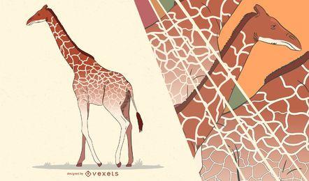 Ilustração artística de girafa