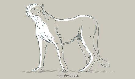 Gepard hand gezeichnete Abbildung