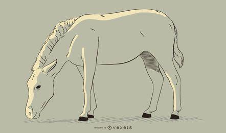 Gezeichnete Illustration des Zebras Hand