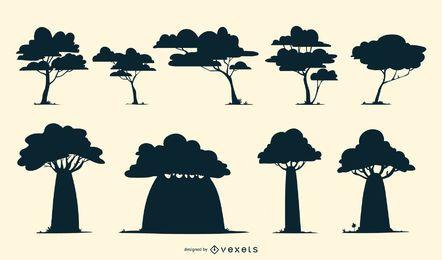 Bäume Silhouette Pack
