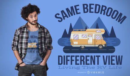 Design de t-shirt de citação de vida em RV