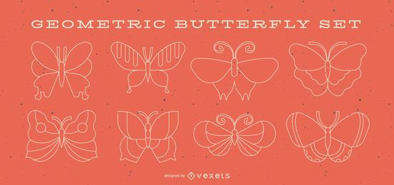 Geometrische Schmetterlingslinie eingestellt