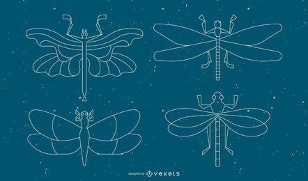 Dragonfly geometric line set